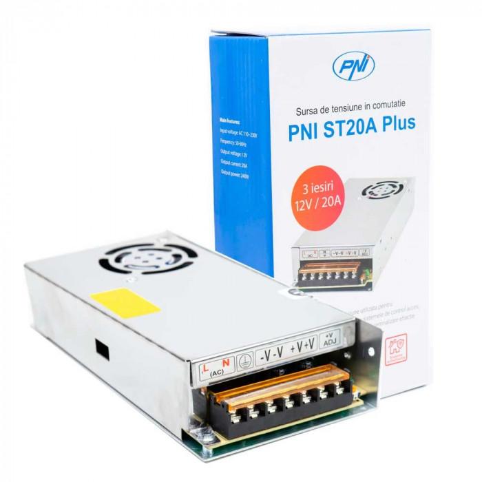 Resigilat : Sursa de tensiune in comutatie PNI ST20A Plus 12V 20A stabilizata pent