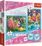 Cumpara ieftin Puzzle 2 in 1 - Memo minunata lume a printeselor