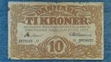 10 Kroner 1939 Danemarca / coroane seria 3978622