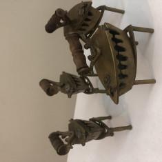 Mini Figurine - Set Colectie - Bronz - Fier Calcat cu maner lemn