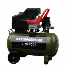 Compresor putere: 2cp volum rezervor: 50l debit aer: 188-224l/min presiune maxima: 8bar/115psi, Heinner