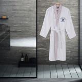 Cumpara ieftin Halat de baie barbati, din bumbac, Beverly Hills Polo Club 701 Alb, L / XL