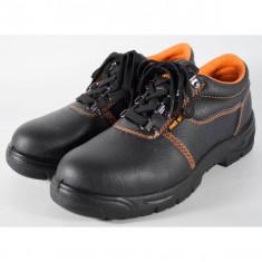 Pantofi din piele naturala, de protectie, bombeu metalic pentru barbati/barbatesti (cod 171002)