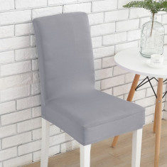 Set 6 huse scaun universale, elastice, masa, gri