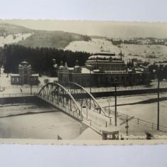Vatra Dornei-Casinoul,carte postala foto cenzurata Campulung Bucovina 1943, Circulata, Fotografie