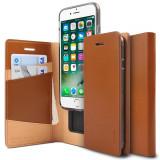 Husa Ringke Signature Genuine Leather Flip Cover cu Card Slots pentru iPhone 8 7 brown (SNAP0002 RPKG)