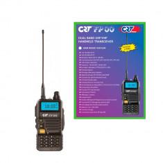 Aproape nou: Statie radio VHF/UHF portabila CRT FP00 dual band 136-174 si 400-440 M