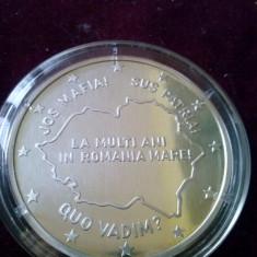 Medalie argint ,,JOS MAFIA ,SUS PATRIA,,   qvo Vadim ,raritate