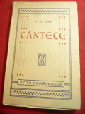 St.O.Iosif - Cantece - Prima Ed. 1912 Viata Romaneasca ,140 pag