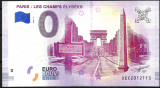 !!! 0 EURO SOUVENIR -  FRANTA , PARIS , CHAMPS ELYSEES  -  2018.2 - UNC/ IN SCAN