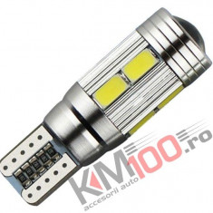 Led auto Canbus T10 cu 10 SMD 5730