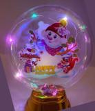 Glob cu lumini pentru Craciun, multicolor, 15 cm