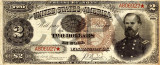 2 dolari 1890 Reproducere Bancnota USD , Dimensiune reala 1:1