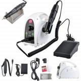 Kit complet manichiura, freza electrica, pila unghii false, pedala, freze, 35000 rpm