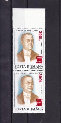 ROMANIA 2001 LP 1556-75 ANI MAREA UNIRE SUPRTIPAR PAPIRUS PERECHE MNH foto