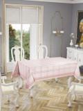 Față de masă Valentini Bianco , model Botanic Roz