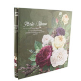 Album foto peonies flowers format 10x15, 500 fotografii, 31x35 cm culoare verde
