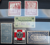 Lot de șase timbre neuzate, fiscale / viniete / locale - Germania, Nestampilat