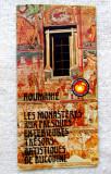 """Bucovina-Manastirile.Pliant turistic""""Mărul de Aur"""" limba franceaza.Anul 1975."""