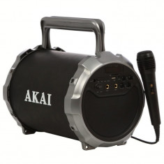 Boxa portabila akai bluetooth cu usb/sd/aux si radio fm 3w negru abts-28