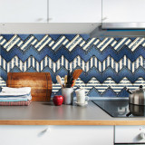 "Sticker Autocolant Faianta Decorativa ""Kitchen Design"" model K-FOL-13 (pret/metru liniar), 4World"