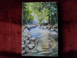 Magia padurii-pictura ulei pe panza, Peisaje, Altul
