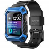 Husa si curea Supcase Unicorn Beetle Pro Apple Watch 4/5/6/SE (44 mm) Blue