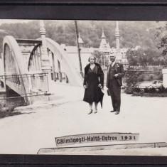 OLTENIA  CALIMANESTI  HALTA  OSTROV  1931  FOTO  AGFA, Necirculata, Fotografie