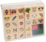Set tusiera si stampile din lemn PlayLearn Toys