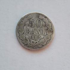 ROMANIA - Moneda 50 Bani 1885 . Argint . Moneda rara !