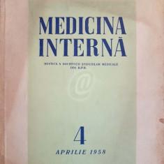 Medicina interna, nr. 4, aprilie 1958