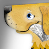 Semn de carte cu urechiusa - Golden retriever - Fetch   If (That Company Called)