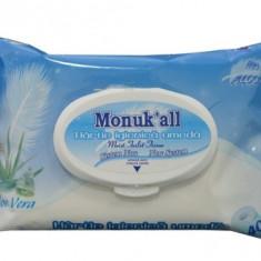 Hartie igienica umeda aloe vera, Monuk'all, 40buc, FLM Group