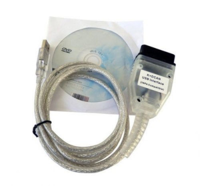 Interfata diagnoza auto BMW INPA Ediabas K+D+CAN DCAN USB OBD2 EOBD Chip FT232RL foto