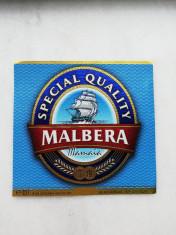 Eticheta bere - MALBERA Mamaia - Constanta . foto