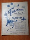 partitura muzicala pentru trompeta din anul aproximativ 1890-1900