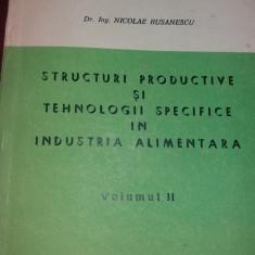 STRUCTURI PRODUCTIVE SI TEHNOLOGII SPECIFICE IN INDUSTRIA ALIMENTARA