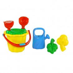 Galeata cu forme, set de joaca pentru nisip, 6 accesorii, 13 cm