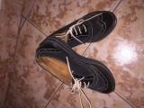 Pantofi Oxford, 38 1/3, Negru, Cu talpa joasa