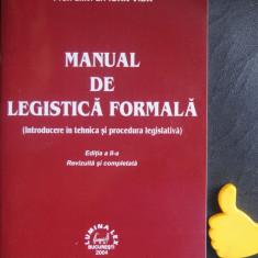 Manual de legistica formala Ioan Vida