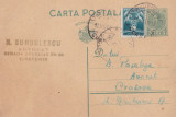 CARTE POSTALA CIRCULATA TR.SEVERIN - CRAIOVA 12 \ 13 NOV.1933