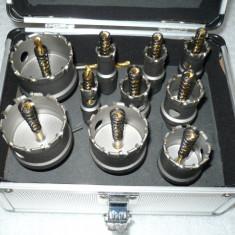 trusa freze pentru metal 10bucati de la 16mm la 53mm