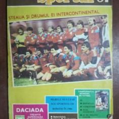 """Sportul """"87: Steaua si drumul ei intercontinental"""