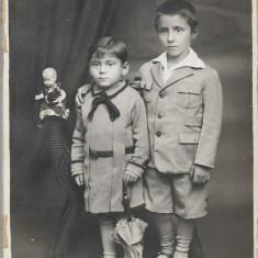 Fotografie copii studio Victoria interbelica poza romaneasca veche