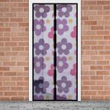 Cumpara ieftin Perdea anti-tantari pt. usi cu inchidere magnetica, 100 x 210 cm Flori colorate