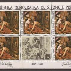 S. TOME E PRINCIPE 1983 PICTURA RUBENS ( bloc dantelat) MNH