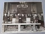 Fotografie 13x18 cm,anii '50,Gheorghiu Dej,Chivu Stoica,Emil Bodnaras, Jukov