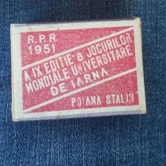 Chibrit vechi de colectie an 1951 RPR