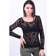 Bluza Dantela Vila Femme Negru, S/M
