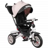 Tricicleta Multifunctionala 4 in1 Speedy, cu Scaun Rotativ si Roti cu Camera, Colectia 2021 Ivory & Black, Lorelli
